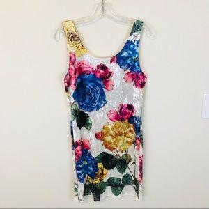 Anthropologie Gaze Velvet Mini Dress